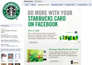 Page Facebook officielle de Starbucks