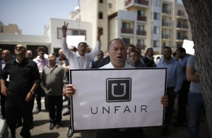 Uber-drivers-protest