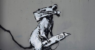 Banksy-Paris-Beaubourg-Centre-Pompidou