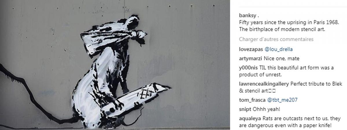 Banksy-Paris-Beaubourg-Centre-Pompidou-Instagram